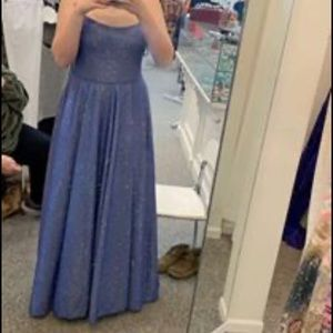 Blue Sparkling Prom/Pageant Dress